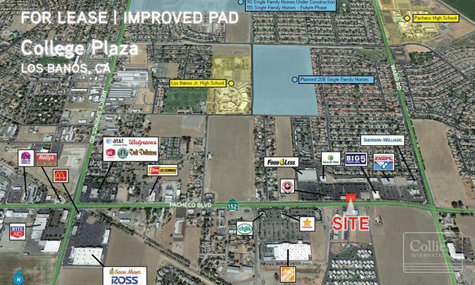 Land For lease — 2140 E  Pacheco Blvd  Los Banos, CA 93635