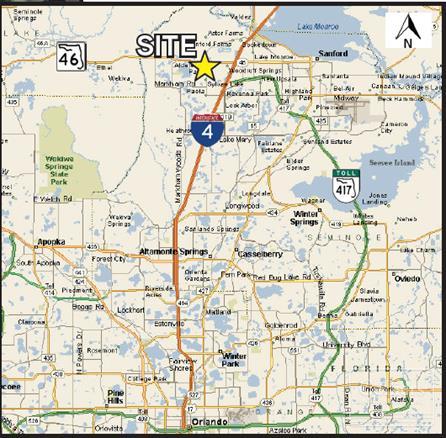 Sanford Florida Map.Colliers International Properties Seminole Parkway 3 3 Acre