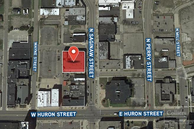 For Sale or Lease > Heart of Pontiac > Office Up to 39,926 SF Available