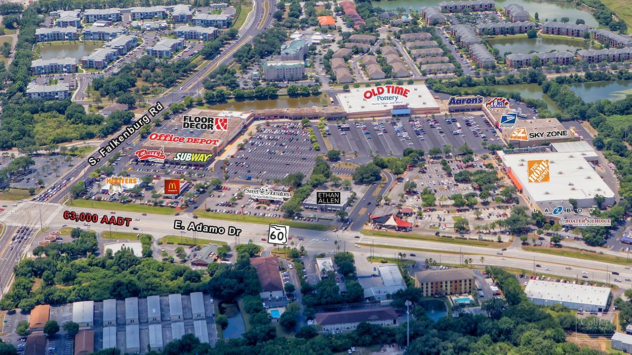 Retail For Lease 10057 E Adamo Drive Sr 60 Tampa Fl