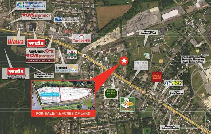 colliers international properties 1 6 acres of land in macungie