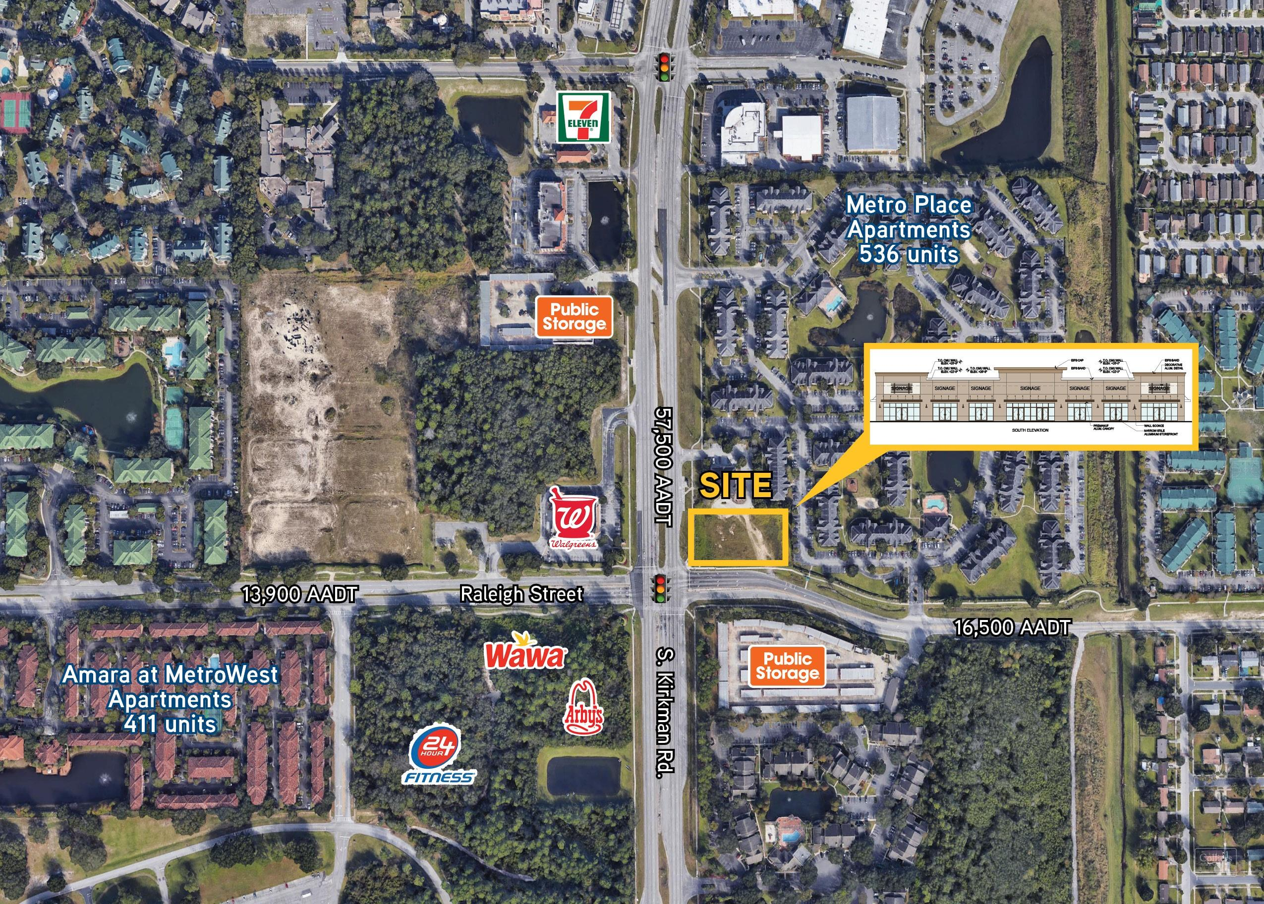 Retail For lease — NEC S  Kirkman Rd  & Raleigh St  Orlando