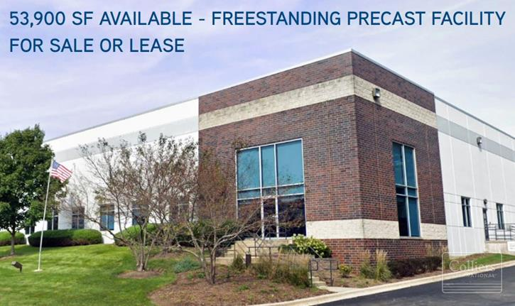 53,900 SF Freestanding Building for Sale or Lease in Elgin, IL