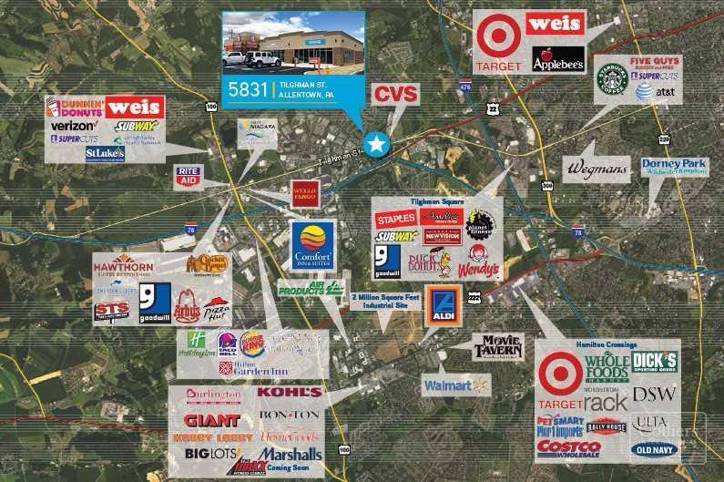Retail For lease — 5831 Tilghman Allentown , Pennsylvania 18104